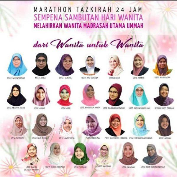 Wanita perkasa dengan marathon tazkirah